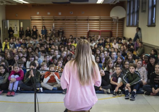 Claudia Bouvette at Louis-Hippolyte Lafontaine school - photo credit Lucas Rupnik